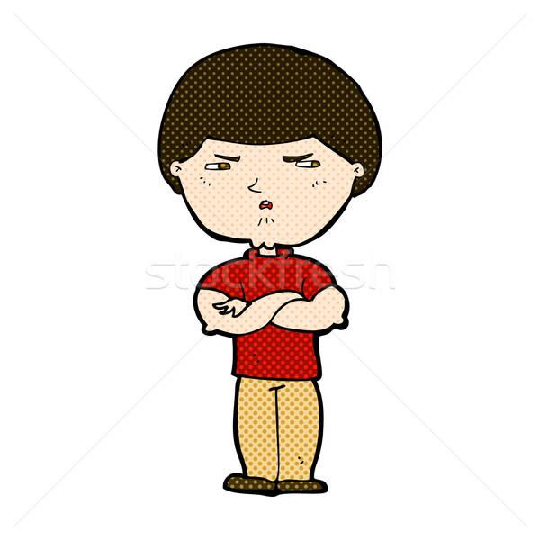 Dessinées cartoon grincheux homme rétro Photo stock © lineartestpilot