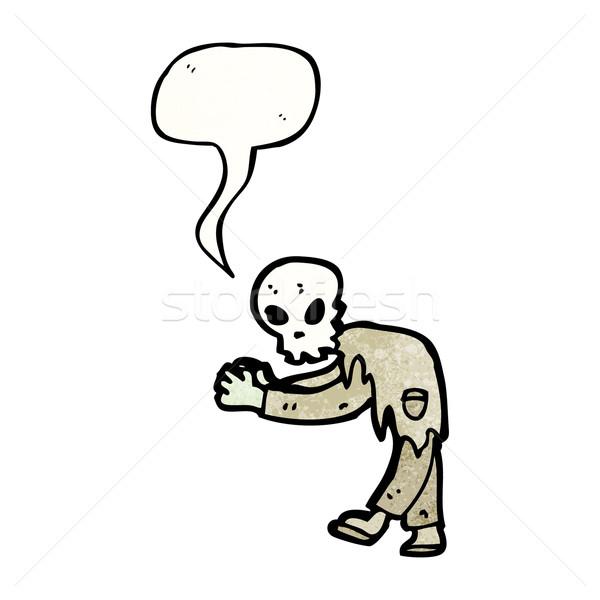漫画 ゾンビ テクスチャ 手 幸せ 図面 ストックフォト © lineartestpilot