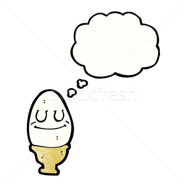 卵 エッグカップ 漫画 テクスチャ 手 幸せ ストックフォト © lineartestpilot