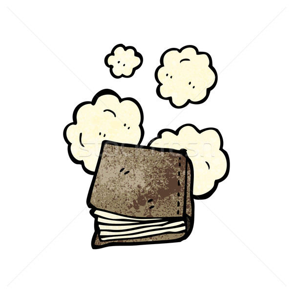 Stoffig oud boek cartoon textuur hand boek Stockfoto © lineartestpilot