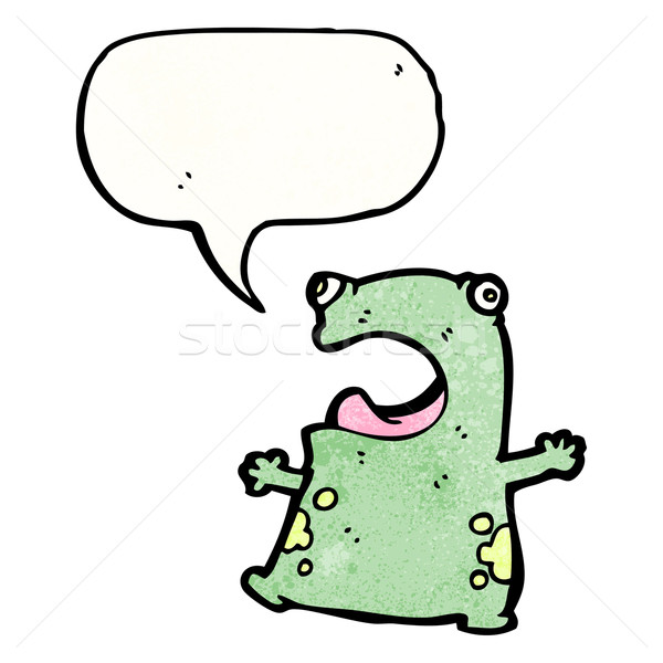 funny cartoon frog Stock photo © lineartestpilot