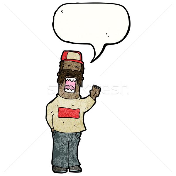 Rajz arrogáns bajusz férfi retro rajz Stock fotó © lineartestpilot