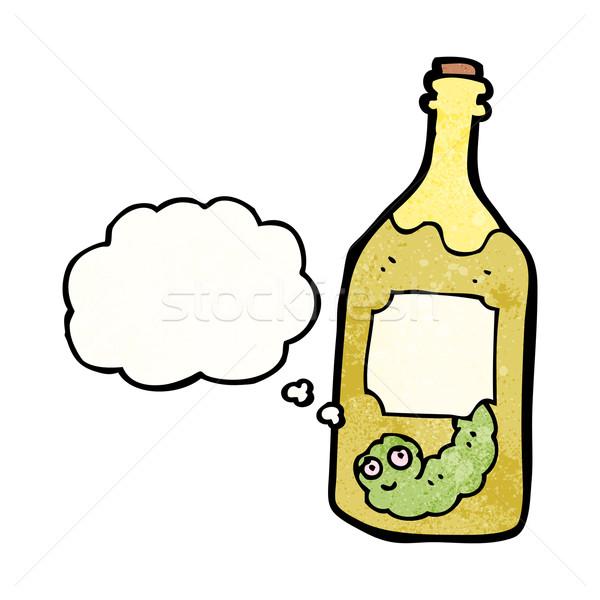 Desenho animado tequila garrafa arte retro desenho Foto stock © lineartestpilot