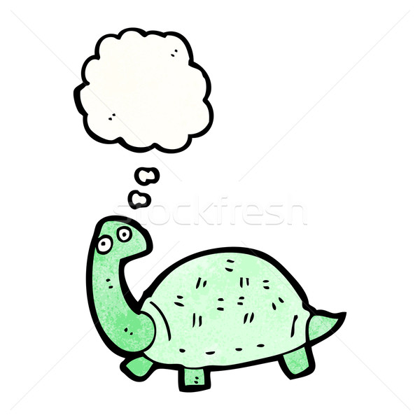 Rajz teknősbéka retro rajz teknős ötlet Stock fotó © lineartestpilot