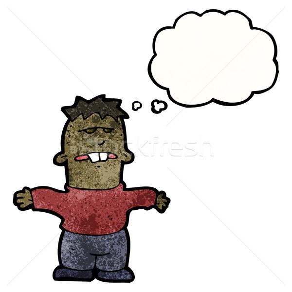 Cartoon brutto ragazzo retro disegno maschio Foto d'archivio © lineartestpilot