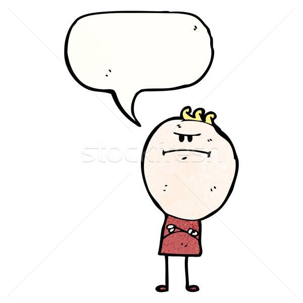 Grincheux garçon bulle homme rétro dessin Photo stock © lineartestpilot