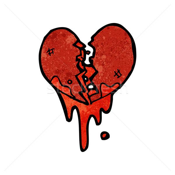 blood splattered heart cartoon Stock photo © lineartestpilot