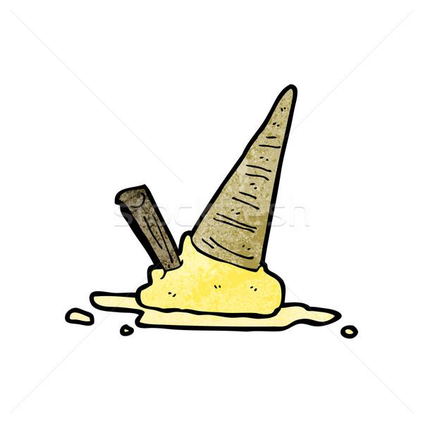 ice cream splat cartoon Stock photo © lineartestpilot