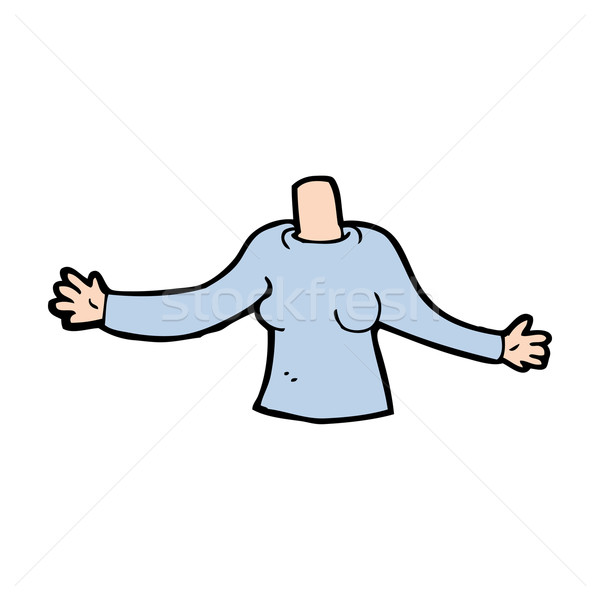 cartoon body (mix and match cartoons or add own photos) Stock photo © lineartestpilot