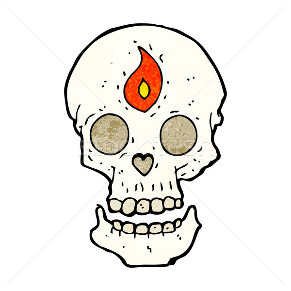 cartoon mystic skull Stock photo © lineartestpilot