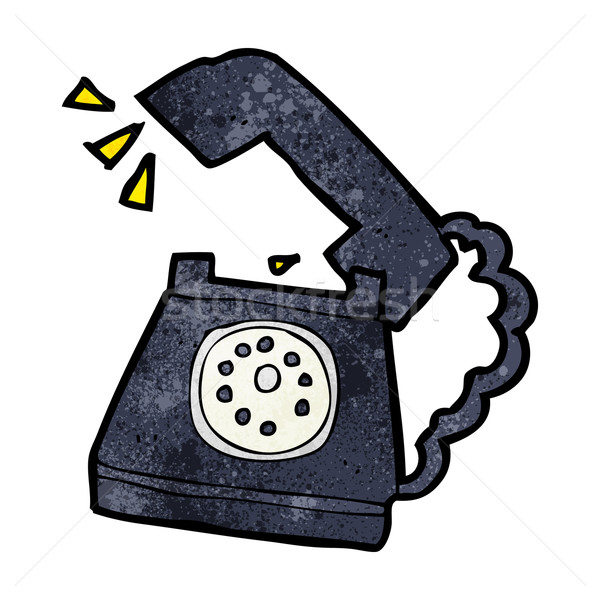 cartoon ringing telephone Stock photo © lineartestpilot