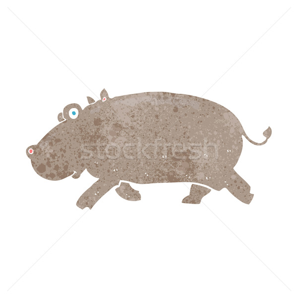 cartoon hippopotamus Stock photo © lineartestpilot