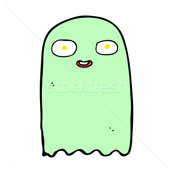 funny comic cartoon ghost Stock photo © lineartestpilot