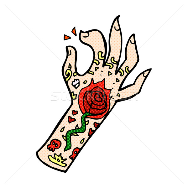 comic cartoon tattoo hand Stock photo © lineartestpilot