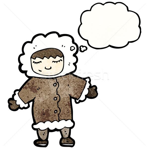 cartoon eskimo Stock photo © lineartestpilot