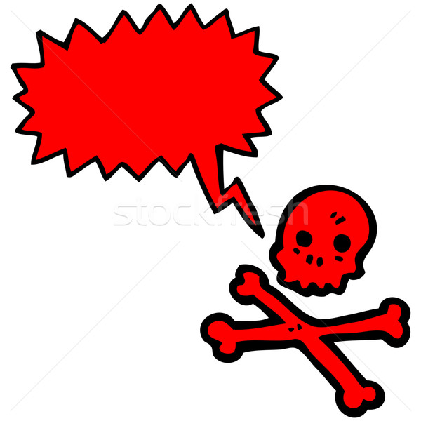 talking skull and crossbones cartoon Stock photo © lineartestpilot