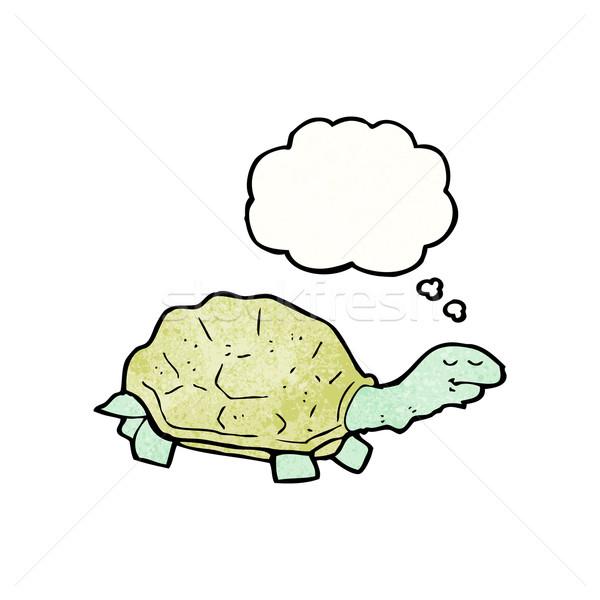 Rajz teknősbéka retro kagyló rajz ötlet Stock fotó © lineartestpilot