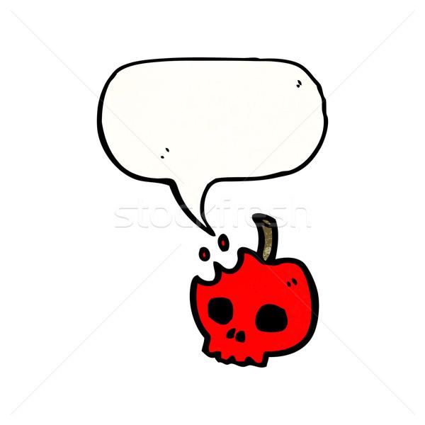 Desenho animado veneno maçã retro textura isolado Foto stock © lineartestpilot