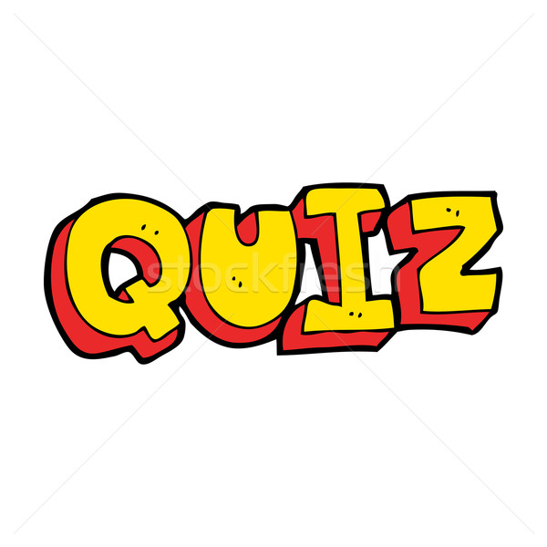 cartoon quiz sign Stock photo © lineartestpilot