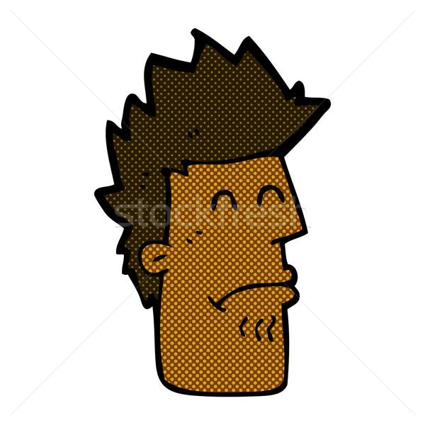 Képregény rajz férfi érzés beteg retro Stock fotó © lineartestpilot