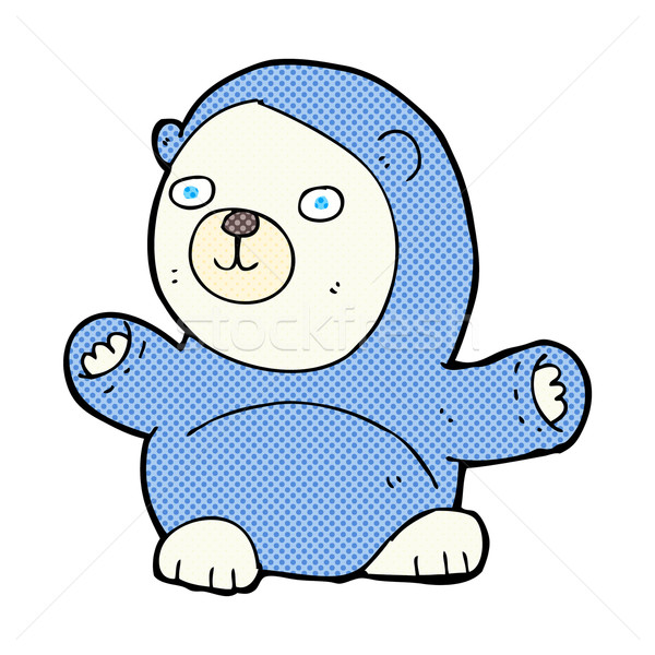 cute comic cartoon polar bear Stock photo © lineartestpilot