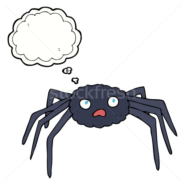 cartoon spider with thought bubble Stock photo © lineartestpilot