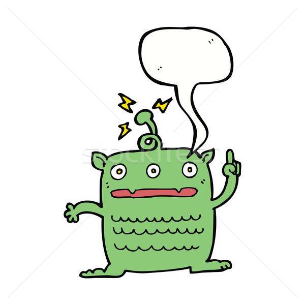 Cartoon raro pequeño exóticas bocadillo mano Foto stock © lineartestpilot