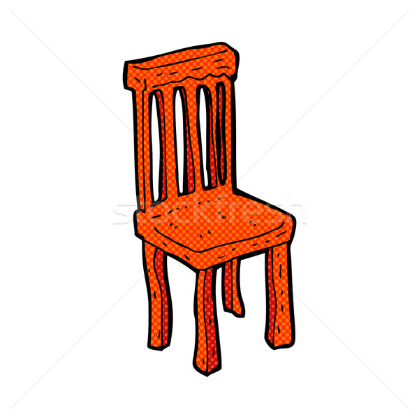comic cartoon old wooden chair Stock photo © lineartestpilot