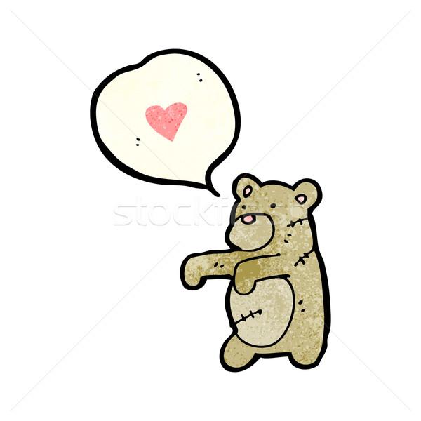 cartoon stitched teddy bear Stock photo © lineartestpilot