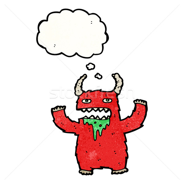 Poilue monstre cartoon texture main heureux Photo stock © lineartestpilot