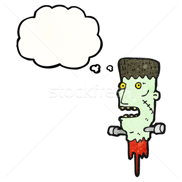 frankenstein monster head cartoon Stock photo © lineartestpilot