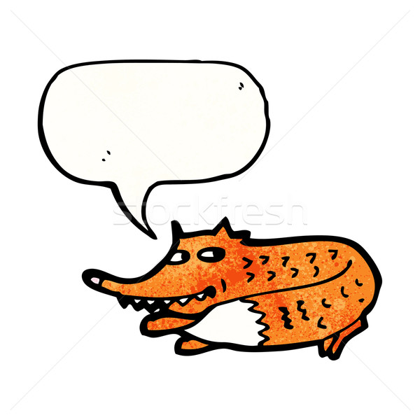 sneaky fox cartoon Stock photo © lineartestpilot