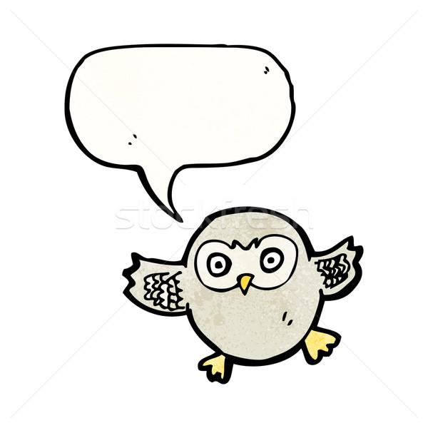 Stock photo: cute cartoon owl