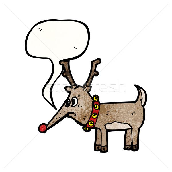 cartoon red nosed reindeer Stock photo © lineartestpilot