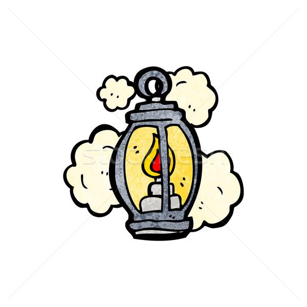 старые фонарь Cartoon говорить ретро рисунок Сток-фото © lineartestpilot