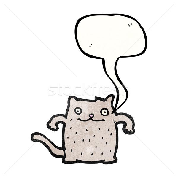 смешные Cartoon кошки искусства ретро рисунок Сток-фото © lineartestpilot