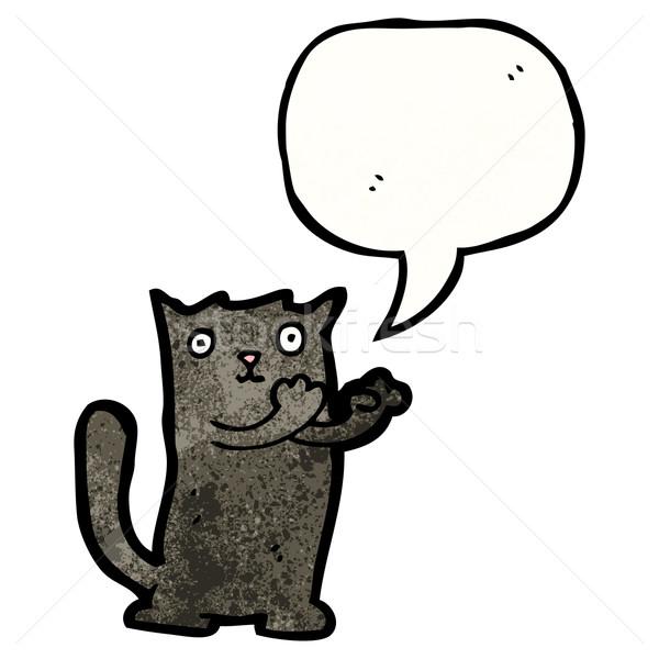 black cat cartoon Stock photo © lineartestpilot