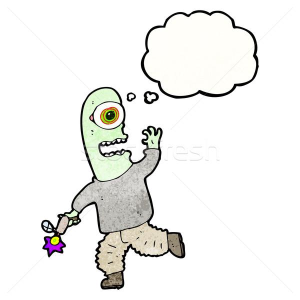 cartoon spaceman with ray gun Stock photo © lineartestpilot