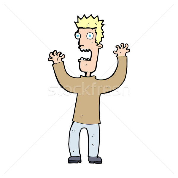 cartoon terrified man Stock photo © lineartestpilot