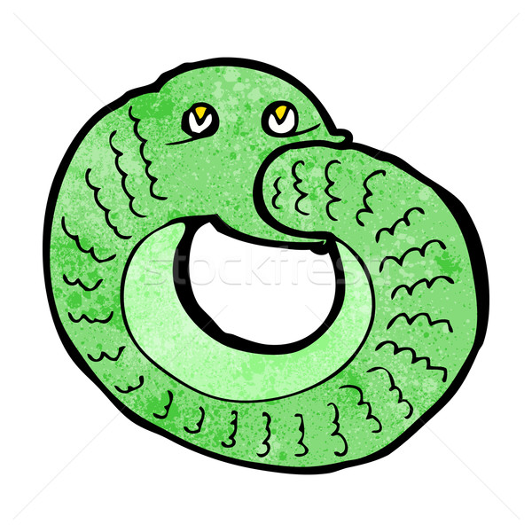 cartoon snake eating own tail Stock photo © lineartestpilot