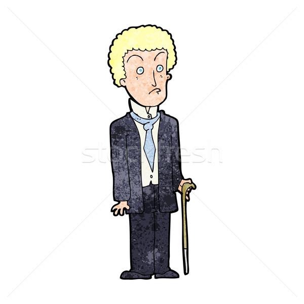 Karikatür mutsuz beyefendi adam dizayn sanat Stok fotoğraf © lineartestpilot