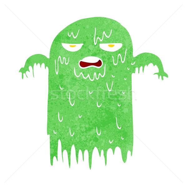Cartoon слизистый Ghost стороны дизайна Crazy Сток-фото © lineartestpilot