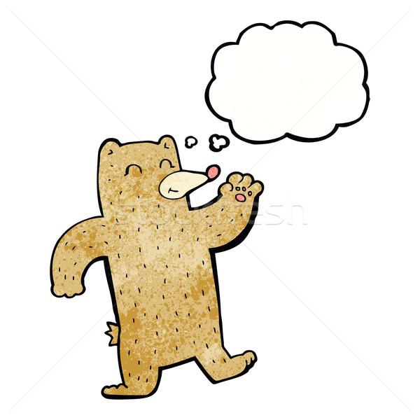 Cartoon orso bolla di pensiero mano design Foto d'archivio © lineartestpilot