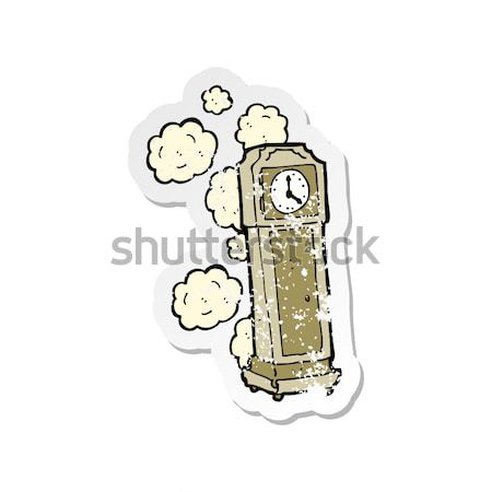 comic cartoon dusty old grandfather clock Stock photo © lineartestpilot