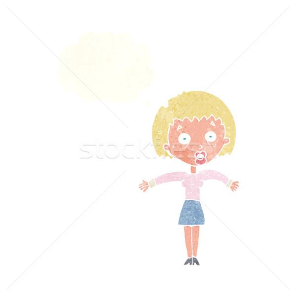 漫画 女性 肩 思考バブル 手 デザイン ストックフォト © lineartestpilot