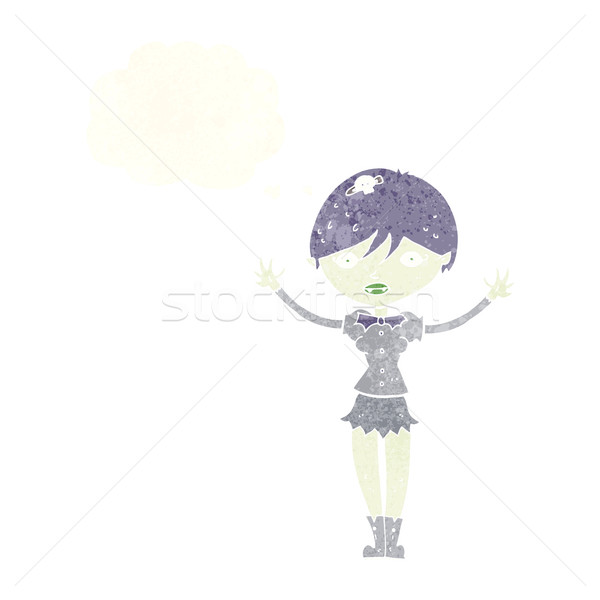 漫画 吸血鬼 少女 思考バブル 女性 手 ストックフォト © lineartestpilot