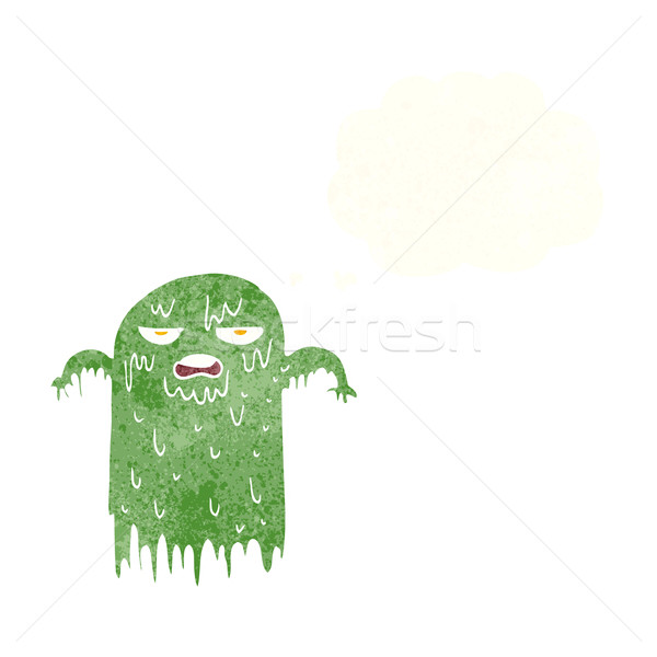 cartoon slimy ghost with thought bubble Stock photo © lineartestpilot