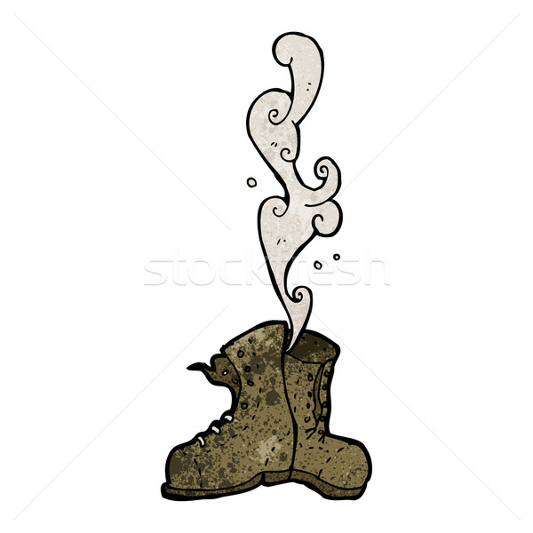 smelly old boots cartoon Stock photo © lineartestpilot