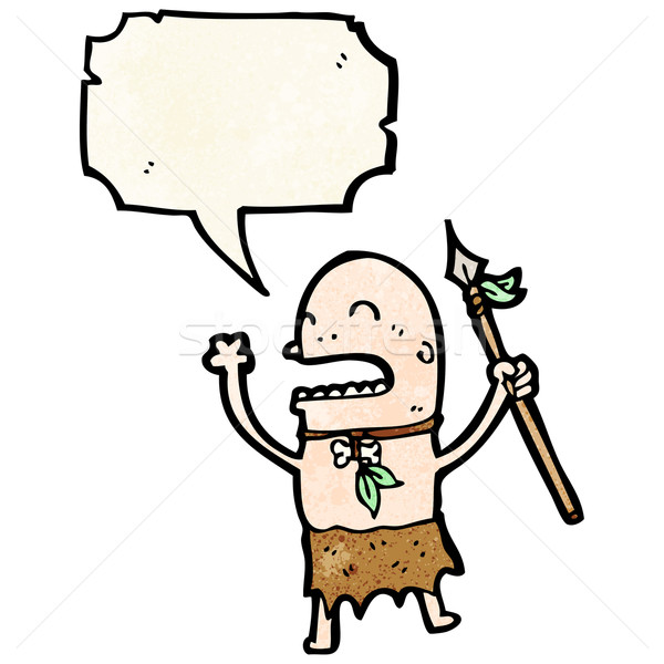 chanting tribesman cartoon Stock photo © lineartestpilot