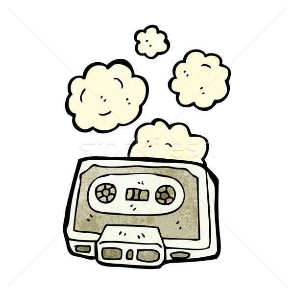 Cartoon stoffig oude cassette tape kunst Stockfoto © lineartestpilot